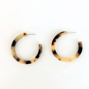 Tortoise Hoop Earrings